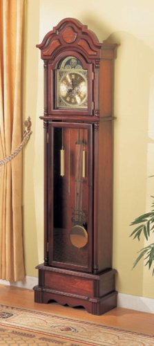 Coaster Home Furnishings 900749 Traditional Grandfather Clock, Cherry
