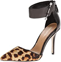 Badgley Mischka Women's Jude Dress Pump,Black/Natural Leopard,6.5 M US