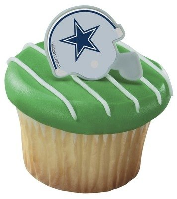 NFL Dallas Cowboys Football Helmet Cupcake Rings - 12 pc at Amazon.com