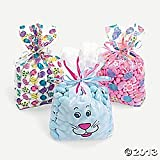 Cellophane Easter Print Goody Bags/favor/toys/party
