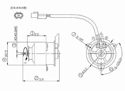 Radiator Fan Motor For 1997-2002 Mitsubishi Mirage 1.5L/1.8L (Manual Transmission) - 630810