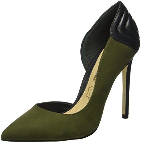 Buffalo LondonZS 6171-15 NOBUCK GASPEA - Scarpe con Tacco Donna , Verde (Grün (MILITAR 03)), 39 EU