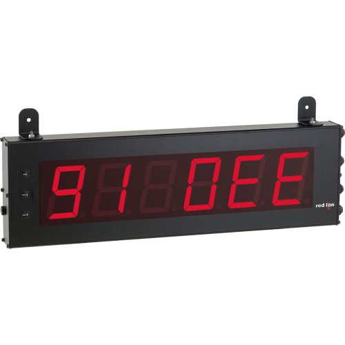 """Red Lion Ld Red Large Serial Slave Led Segment Display, 6 Digits, 4"""" Character Size, 50-250 Vac, 50/60 Hz"""