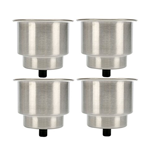 Amarine-made 4pcs Stainless Steel Cup Drink Holder with Drain Marine Boat Rv Camper (Boat Cup Holder compare prices)