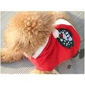 犬 服 サンタ サンタクロース コスプレ コスチューム 中型犬用 サイズ 12 号 ミニサンタ付き