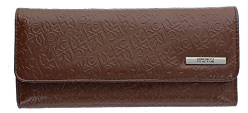 Kenneth Cole Reaction Womens Saffiano Clutch Wallet Trifold W Coin Purse (DRESS TO IMPRESS EARTH)