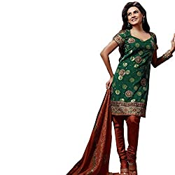 Silk India Women's Vol.3 All Time Hits Dress Material (74_Green)