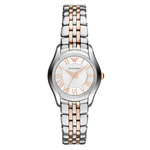 Emporio Armani AR1825 Ladies Silver and Rose Gold Valente Watch