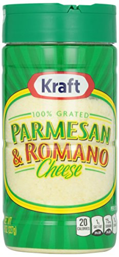 Kraft Grated Parmesan/Romano Cheese, 8-Ounces Cannister (Pack of 2) (Kraft Grated Romano Cheese compare prices)