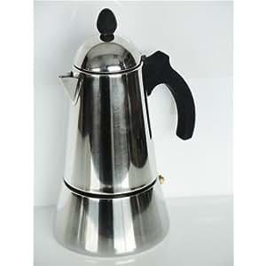 Italian Coffee Maker Induction : Amazon.com: GAT Cafe Caffe Konica 10 Cup Induction Stove Top Italian Espresso Coffee Maker ...