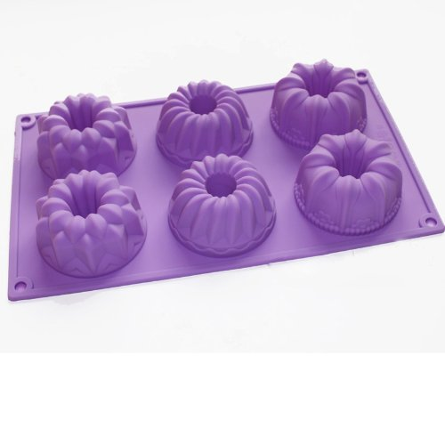 X-Haibei Silicone Mold Bareware Donuts Chocolate Muffin Mini Bundt Cake Pan Jelly Mould