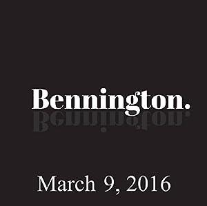 Bennington, March 9, 2016 Radio/TV Program