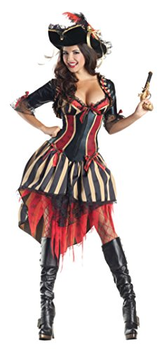Party King Womens Pirate Body Shaper Hottie Outfit Fancy Dress Sexy Costume