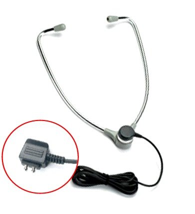 """Dictaphone **Extended-Life**Premium """"Ebs"""" Headset Compatible Universal Aluminum Hinged-Stetho Type For Transcriber Models 1709, 1720, 1730, 1740, 2710, 2720, 2730, 2740, 2750, 3740, 3750, 3710 And Earlier Models"""
