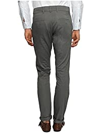 White House Jeans Men's Slim Fit Flat Front Trousers