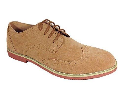 Mens-Suede-Dress-Classic-Wingtip-Oxfords-Lace-Up-Shoes-dak02