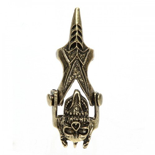 Big Bargain Vintage Retro Steampunk Skull Knuckle Hinged Alloy Bronze Full Finger Ring