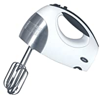 Oster 2534 Inspire Hand Mixer with Bonus Attachments, White with Brushed Stainless Steel