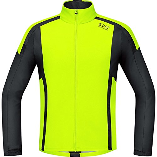 gore-air-running-wear-mens-long-sleeved-windstopper-soft-shell-yellow-neon-yellow-black-sizes