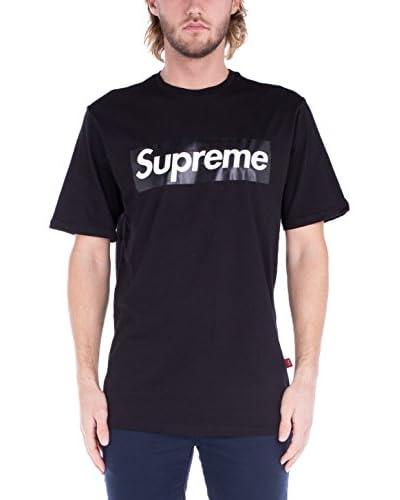 Supreme Italia T-Shirt Manica Corta  [Nero]