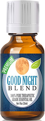 Good Night Essential Oil Blend 100% Pure, Best Therapeutic Grade - 30ml - Comparable to DoTerra's Serenity & Young Living's Peace & Calming Blend - Chamomile, Clary Sage, Copaiba, French lavender, Peru Balsam, Sandalwood, Sweet Marjoram, Ylang Ylang - 30m