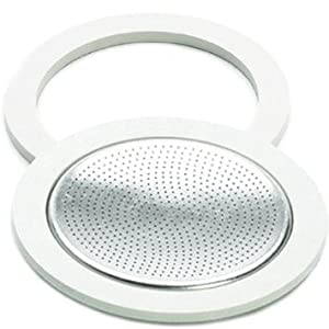 Bialetti Brikka Aluminum Replacement Parts Gasket and Filter Set, 2 Cup from Bialetti