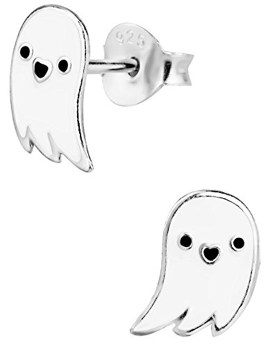 .925 Sterling Silver Ghost Earrings