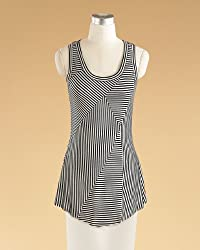 Striped Tunic-Style Tank Top by Spiegel