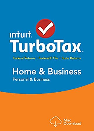 TurboTax Home & Business 2015 Federal + State Taxes + Fed Efile Tax Preparation Software - Mac Download