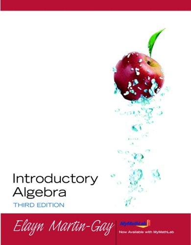 Introductory Algebra (Martin-Gay Developmental Math)