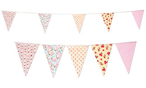 35 Flags Vintage Baby Shower Tea Party Pennant Flag Banner Bunting Party Decoration Banner (C1356) (Baby Shower Tea compare prices)