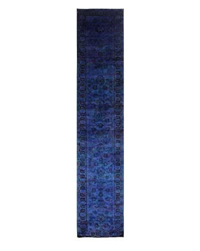 nuLOOM One-of-a-Kind Hand-Knotted Coleman Rug, Blue, 3' x 15' 5 Runner