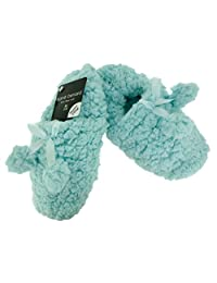 Harve Benard Ladies Sherpa Plush Super Cozy Slippers With Bow And Pom Poms