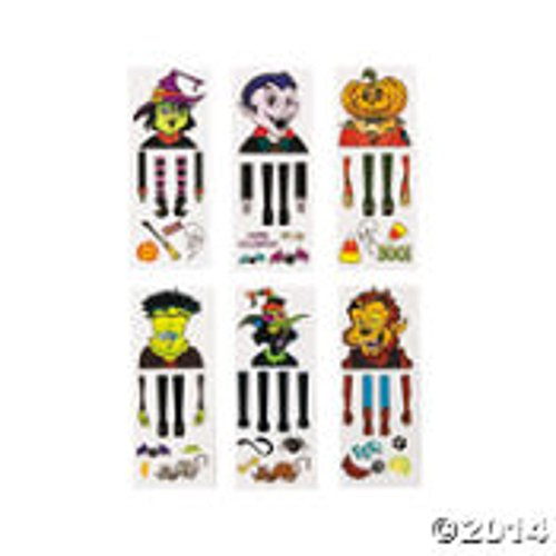 Halloween Hand Puppet Tattoos - 12 Sheets