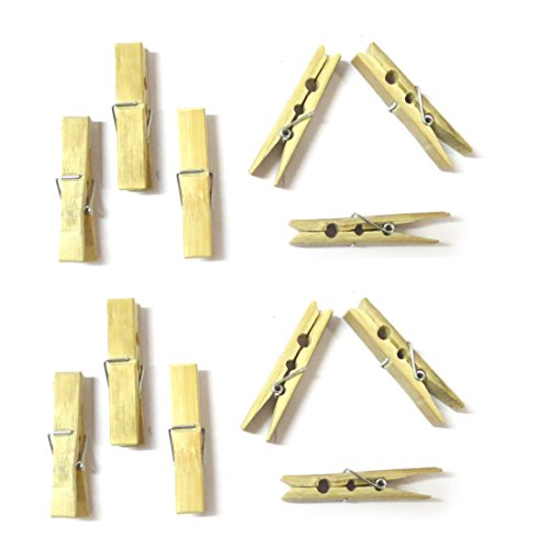 DCS Wooden Clips Real Bamboo Cloth Pegs (Set of 20 Clips)  available at amazon for Rs.220
