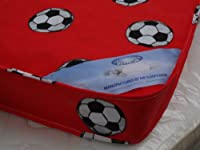 Single Mattress 3ft (90cm) Width - 6ft3 (190cm) Length Red Football