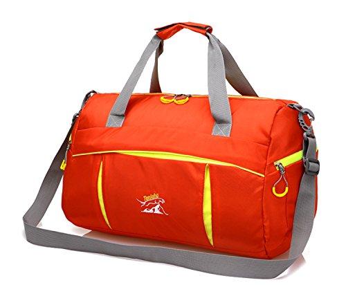 Zerd Packable Multi-Functional High-Capacity Travel Gym Tote Handbag Orange