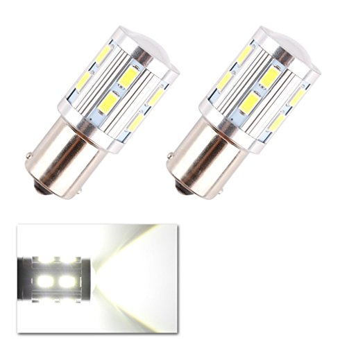 ToAUTO 2 X 1156 BA15S Turn Signal Brake 12 SMD Samsung 5730 Cree led High Power lamp p21w R5W Car LED bulbs rear brake Lights Source parking 12V White (R5w Bulb compare prices)