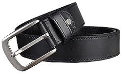 Blueblue Sky Vintage Leather Men's 38mm Pin Buckle All Match Belts #Ip2010070 (47, Black)