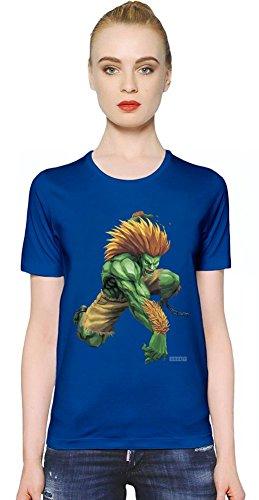 Street Fighter Blanka T-shirt donna Women T-Shirt Girl Ladies Stylish Fashion Fit Custom Apparel By Slick Stuff Small