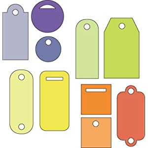 Cuttlebug 37-1222 2-by-2-Inch Dies, Set of 4, Tiny Tags