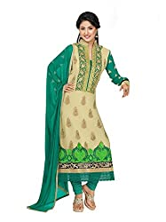 Fashion Storey Green Georgette Semi-Stitched Suits