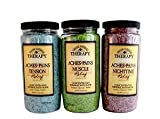 Village Naturals Therapy Aches and Pains Concentrated Bath Soak Salts (Variety Pack)