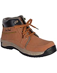 George Adam Men'S Tan Synthetic Leather Casual Boots