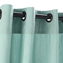 Sunbrella Outdoor Curtain with Nickle Grommets - Mist, 50X84