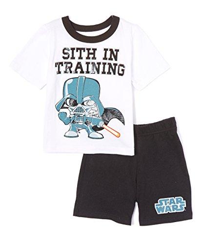 Star Wars Toddler's 2 Piece T-Shirt Shorts Set (Sith, 2T)