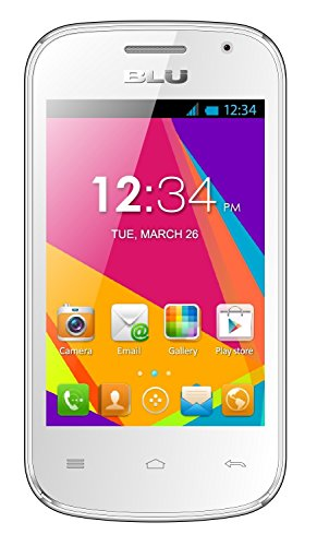 BLU Dash JR W D141w Unlocked GSM Dual-SIM Android Cell Phone - White
