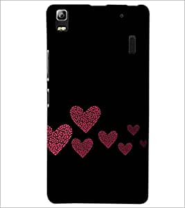 PrintDhaba Hearts D-2422 Back Case Cover for LENOVO A7000 (Multi-Coloured)