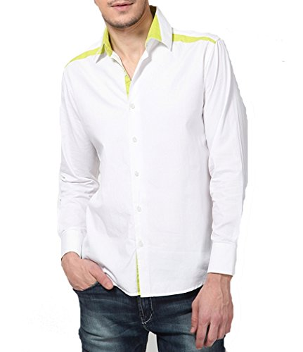 Dazzio Men's Slim Fit Cotton Casual Shirt - B00MNCKNCS