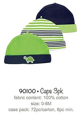 Yoga Sprout 90100 3er Set Babymützen, passend von 0-6 Monaten, 3 verschiedene Designs